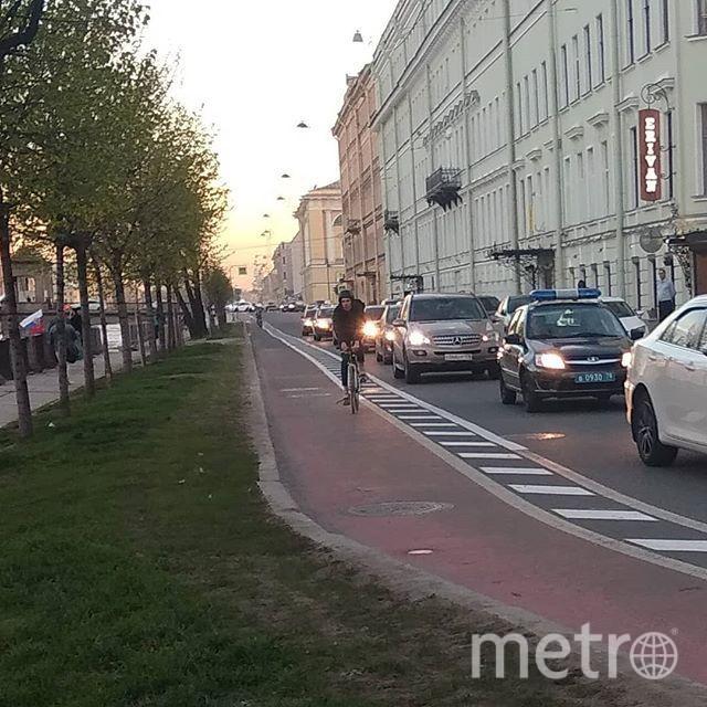 Идея 2016 года – создание велодорожки на наб. реки Фонтанки. Фото vk.com/tvspb