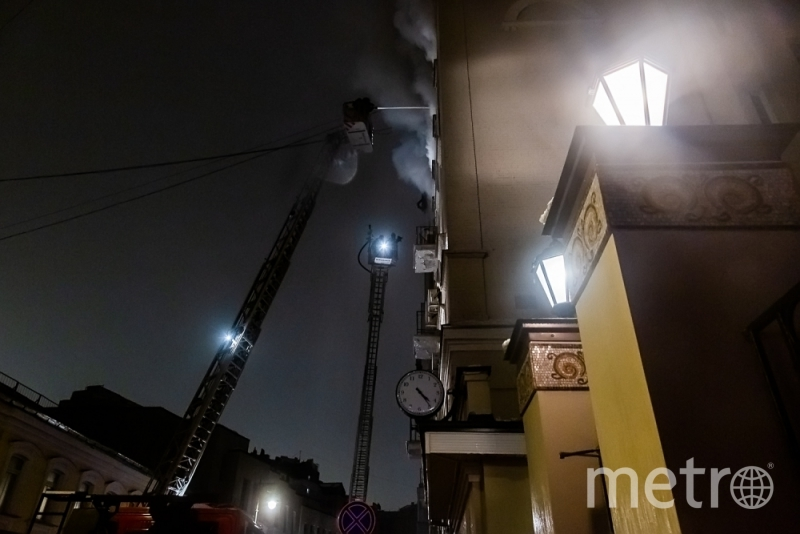 Крупный пожар в центре Москвы удалось потушить к 5 часам утра. Фото Официальный сайт ГУ МЧС по Москве