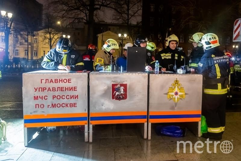 Оперативный штаб МЧС на месте событий. Фото Официальный сайт ГУ МЧС по Москве