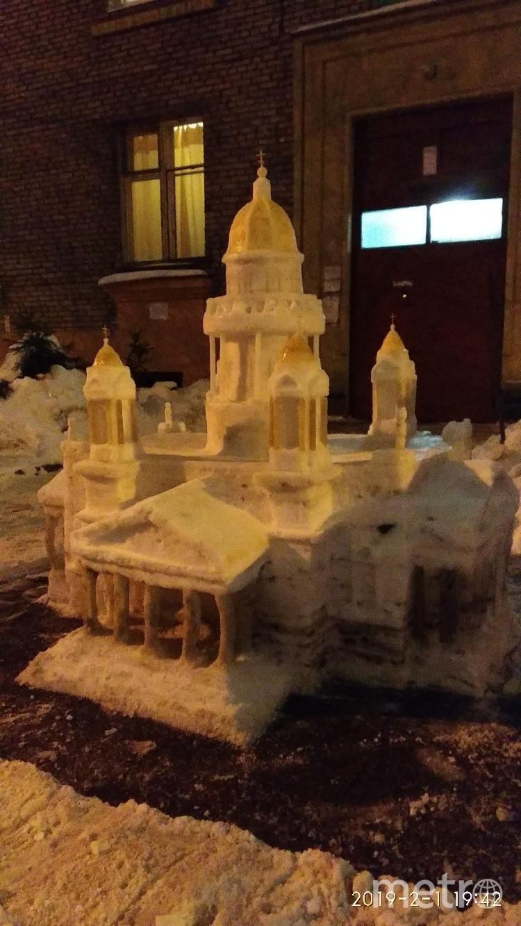 "Иссакий из снега разрушили. Фото vk.com/kuzmin_vladimir, ""Metro"""