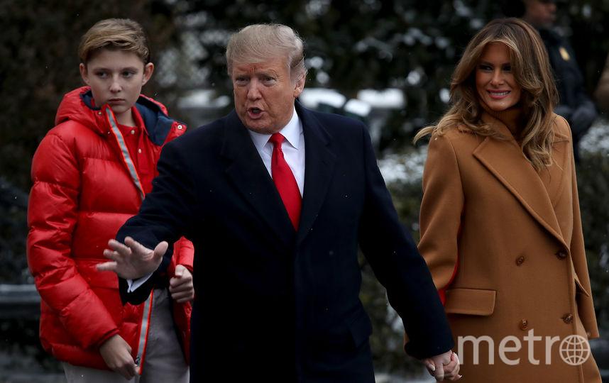 Мелания Трамп впервые вышла в свет в 2019 году вместе с супругом. Фото Getty
