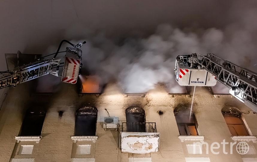 Пожар произошёл сегодня ночью. Фото Официальный сайт ГУ МЧС по Москве