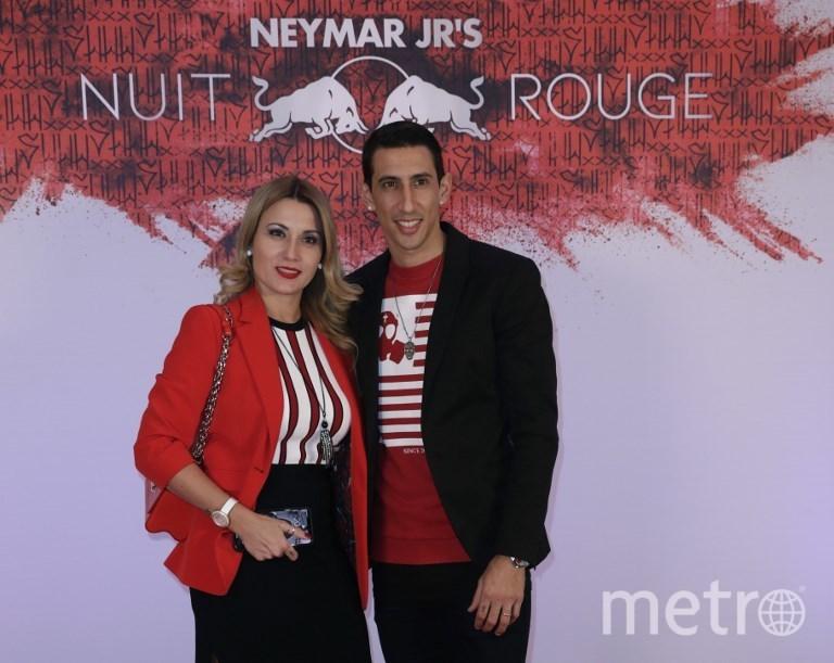 Анхель ди Мария с женой. Фото AFP