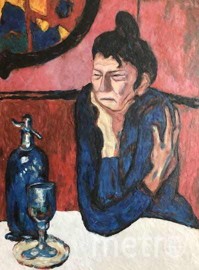 """Пабло Пикассо, любительница абсента"""", пластилиновый вариант. Фото предоставила Катерина Нежурина"""