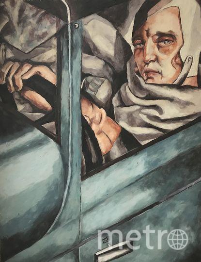 """Тамара Лемпицка, """"Автопортрет в зелёном """"Бугатти"""", пластилиновый вариант. Фото предоставила Катерина Нежурина"""