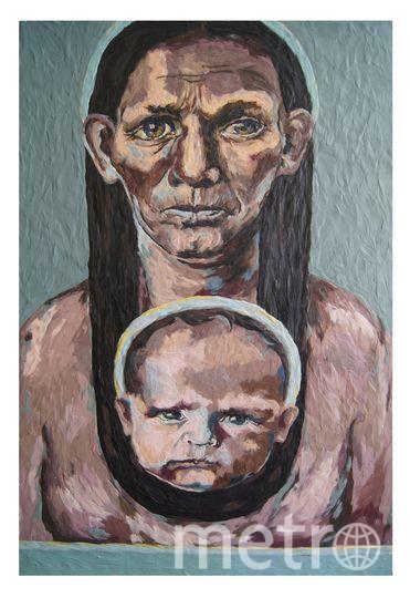 """Мать"", картина из пластилина, Катерина Нежурина. Фото предоставила Катерина Нежурина"