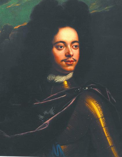 Портрет царя Петра Алексеевича. Годфрид Схалкен. 1703–1706 гг. Фото предоставлено Историческим музеем