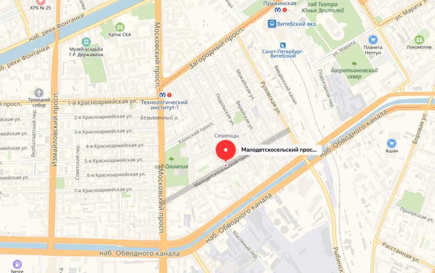 В Петербурге тепло вернулось в 37 домов. Фото Скриншот Яндекс. Карты