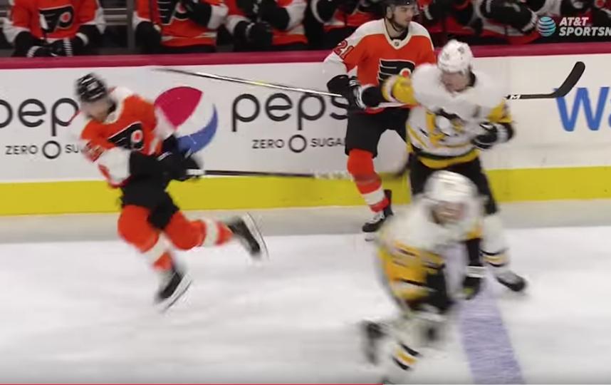 Симуляцию Раффля в данном эпизоде в НХЛ рассматривать не стали. Фото скриншот с видео SPORTSNET