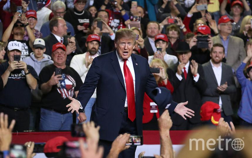 Про то, почему у него нет собаки, Трамп расказал на встрече со сторонниками в в Эль-Пасо. Фото Getty