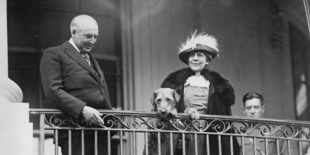Уоррен Хардинг и его эрдель. 1922 год.
