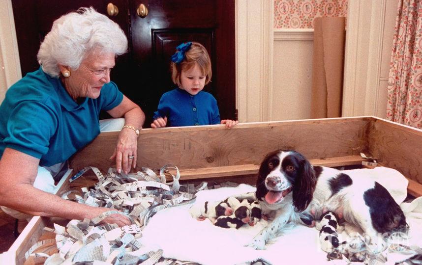 Барбара Буш и ее собака Милли. Фото Getty