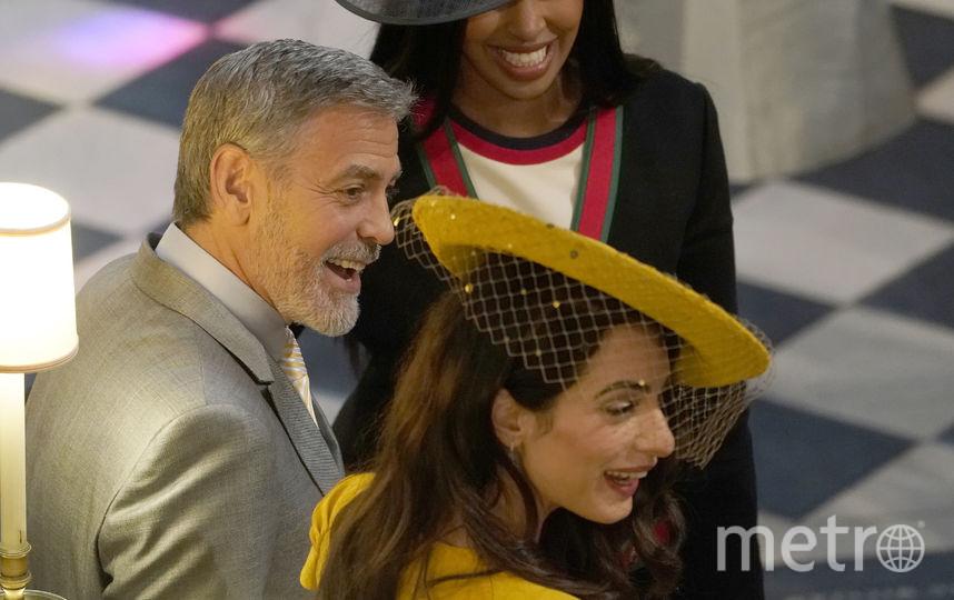 Джордж и Амаль Клуни на свадьбе принца Гарри и Меган Маркл. Фото Getty