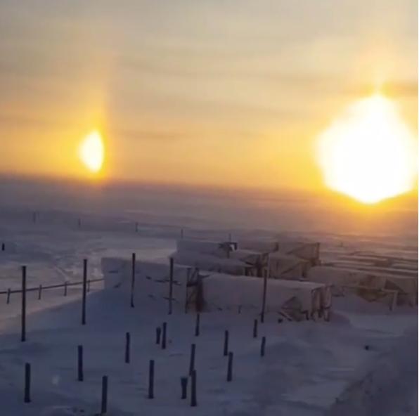 """Три солнца"", гало. Фото Скриншот instagram.com/reporter_noyabrsk/"