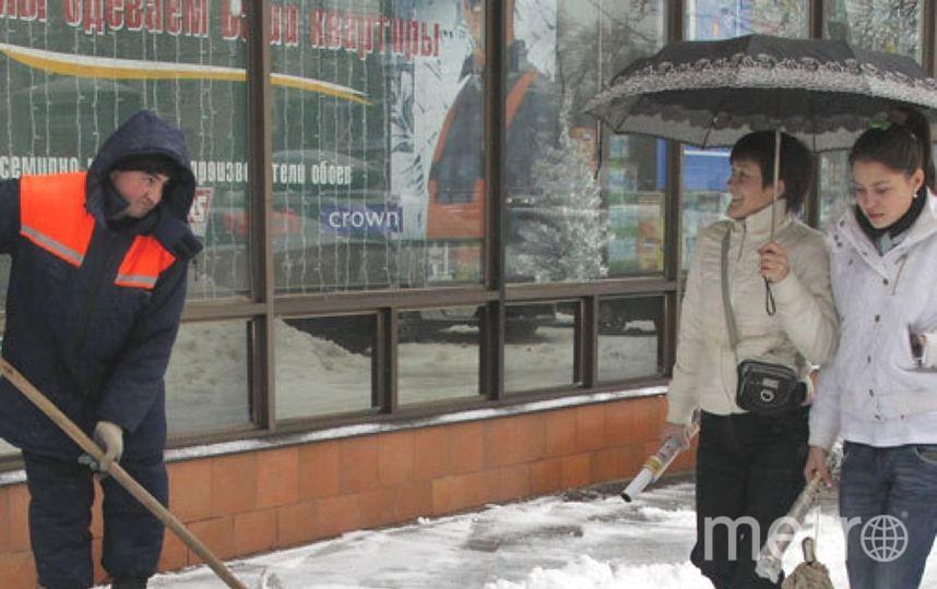 """Гололед в Петербурге - из-за перепадов температуры. Фото """"Metro"""""""