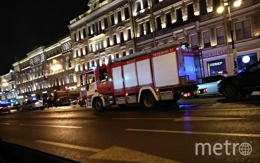 Фото с места ДТП на Невском проспекте. Фото https://vk.com/spb_today