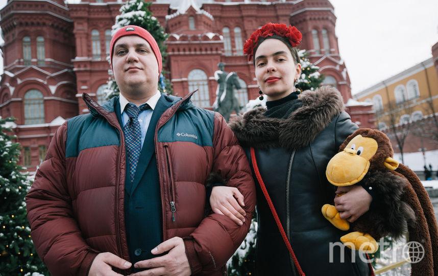 """Александр и Мария возле """"Манежа"""". Фото Игорь Генералов, """"Metro"""""""