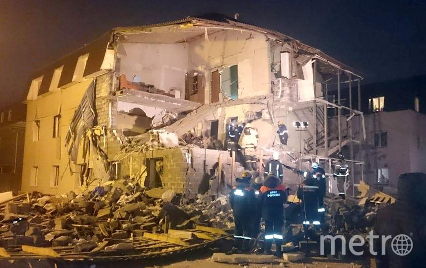 В результате взрыва произошло частичное обрушение дома. Фото Getty