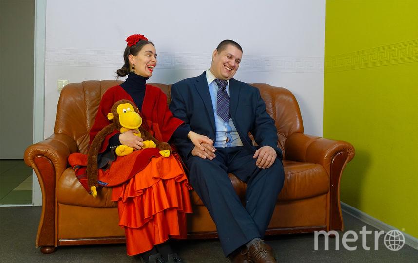 Наша корреспондентка Маша и айтишник Саша в мексиканских образах. Фото Павел Киреев