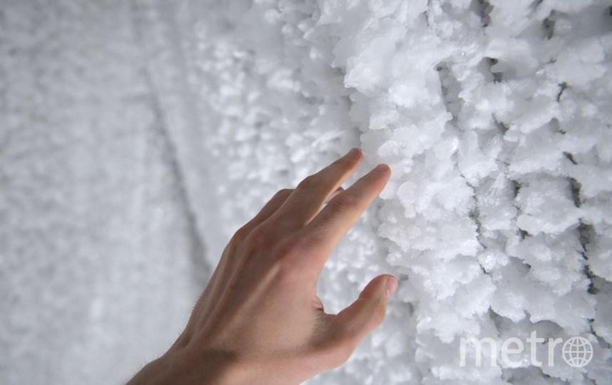 """Ледяную пещеру в парке """"Зарядье"""" закрыли для посетителей. Фото РИА Новости"""