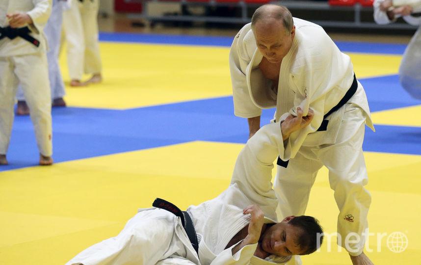 Владимир Путин на тренировке. Фото Getty