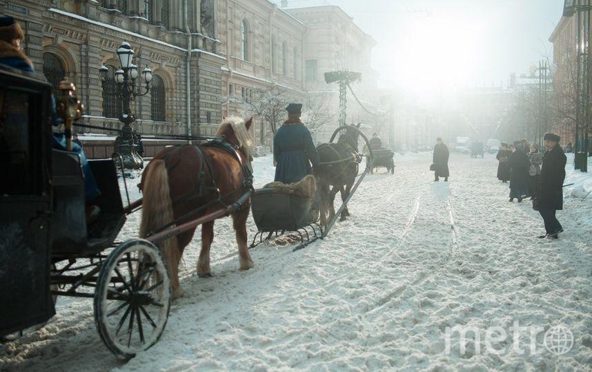 """Съёмки фильма """"Серебряные коньки"""". Действие фильма происходит в 1899 году. Фото «Централ Партнершип», """"Metro"""""""