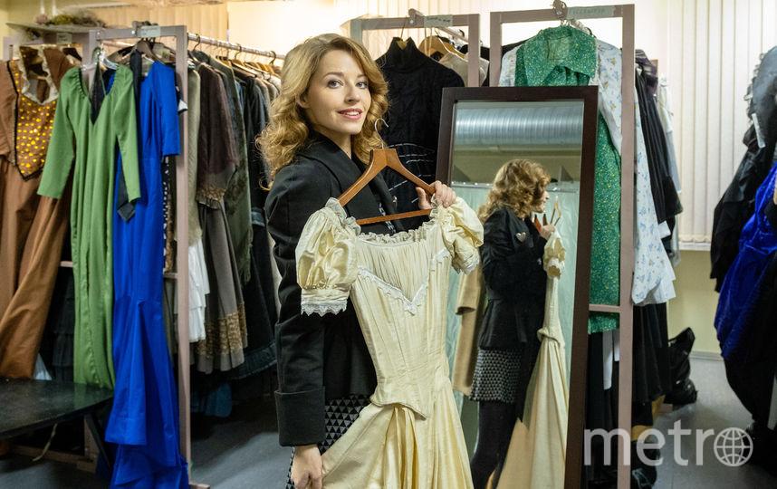 """В костюмерной. В этом платье Полина играет в спектакле """"Дядюшкин сон"""". Фото Алена Бобрович, """"Metro"""""""