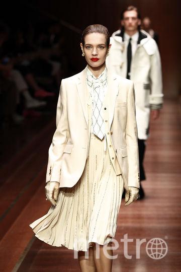 Наталья Водянова. Шоу Burberry на Неделе моды в Лондоне. Фото Getty