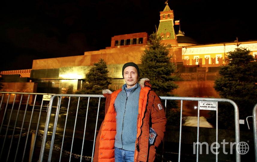 "Мадс Миккельсон на Красной площади. Фото предоставлено пиар- агентством ""Сарафан"""