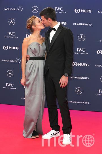 Laureus World Sports Awards 2019. Новак Джокович с женой. Фото Getty