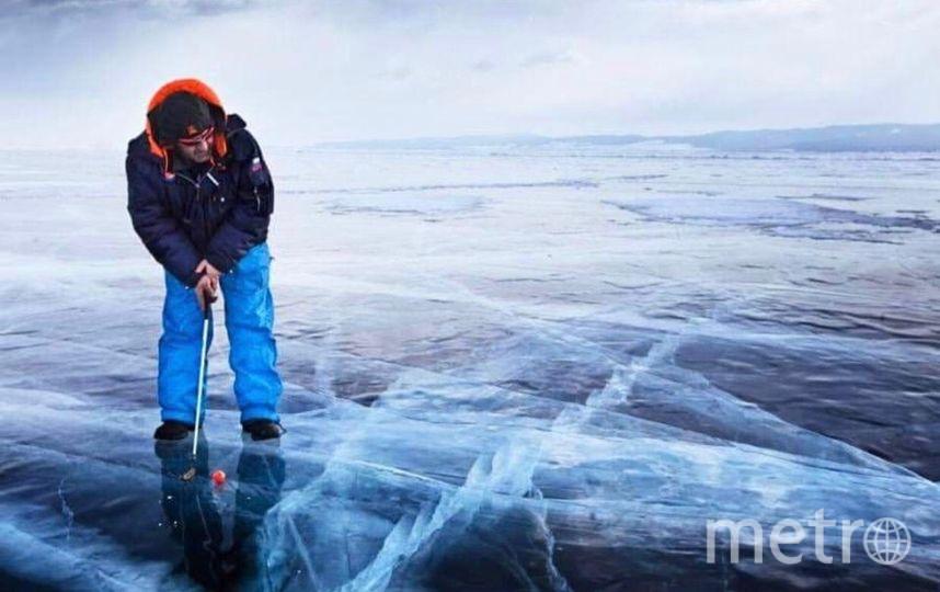Гольф на льду. Фото instagram.com/siberian_times.