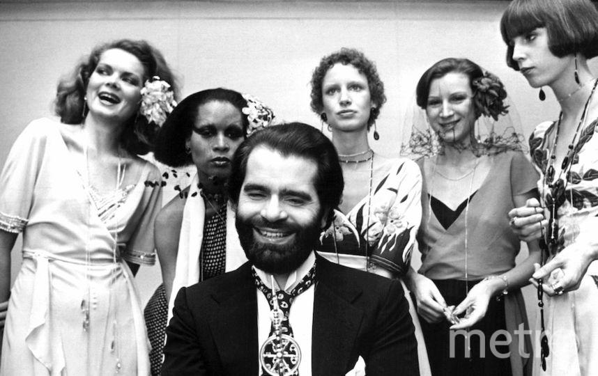 Лагерфельд в 1973 году. Фото Getty