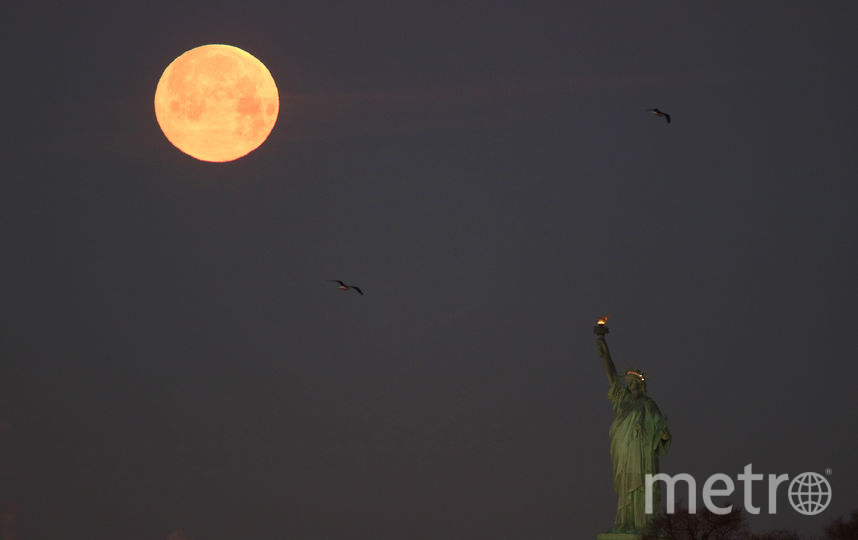 Суперлуние 2019, Нью-Йорк. Фото Getty