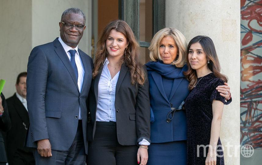 Дени Муквеге, Марлен Шьяппа, Брижит Макрон и Надя Мурад. Фото Getty