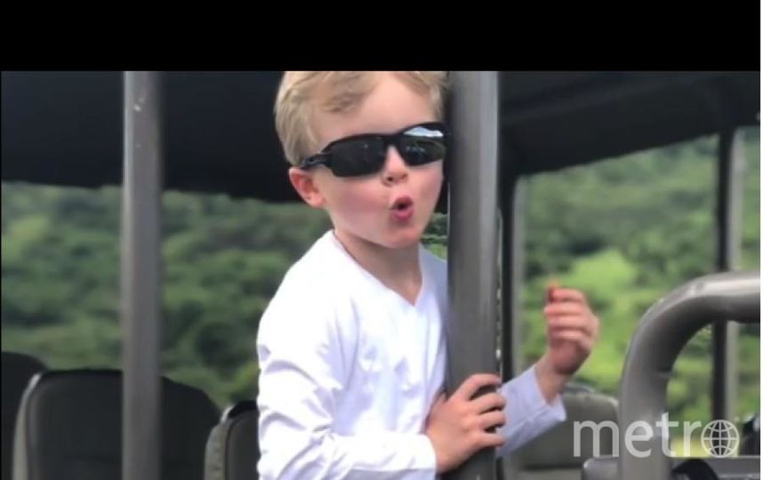 """Дети в сафари-парке выглядят абсолютно счастливыми. Фото https://www.instagram.com/hshprincesscharlene/, """"Metro"""""""