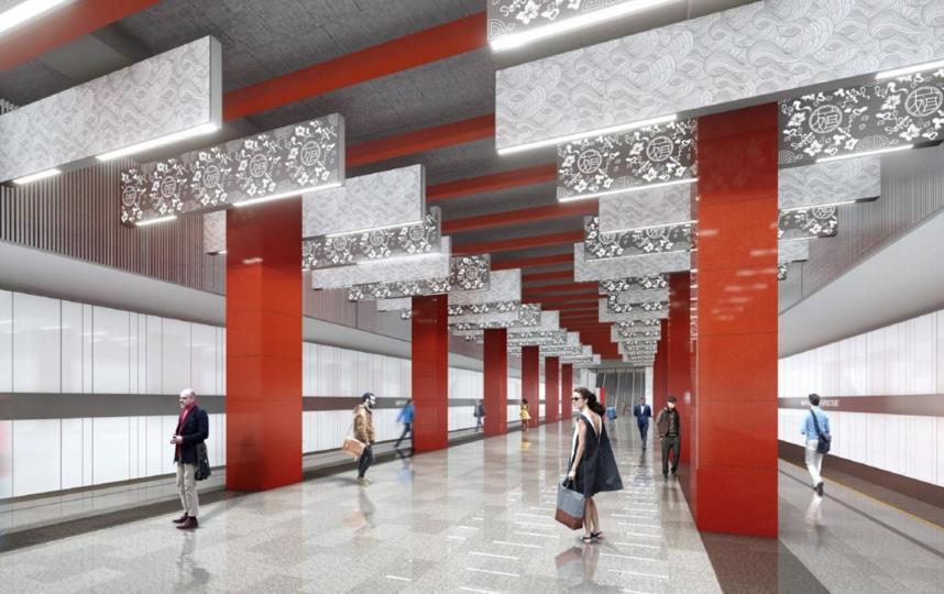 "Дизайн-проект. Фото Скриншот stroi.mos.ru, ""Metro"""
