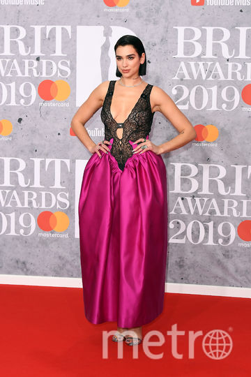 The Brit Awards-2019. Дуа Липа. Фото Getty