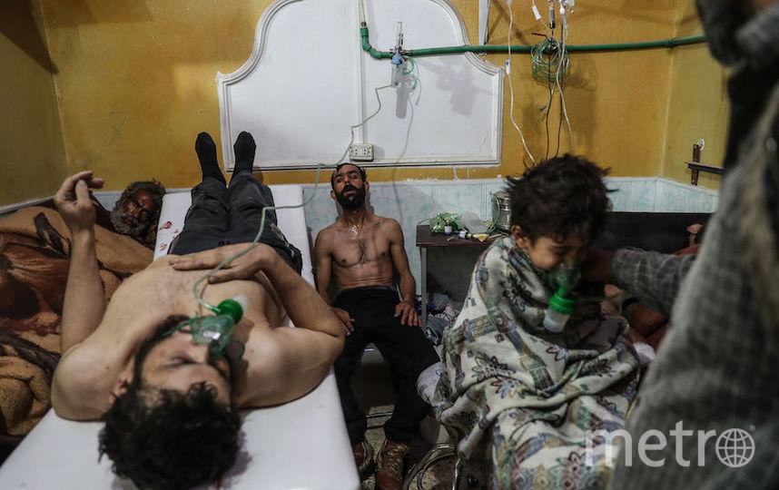 Жертвы предполагаемой газовой атаки в Восточной Гуте. Автор – Мохаммед Бадра/European Pressphoto Agency. Фото European Pressphoto Agency