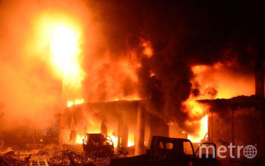 Пожар в Дакке. Фото AFP