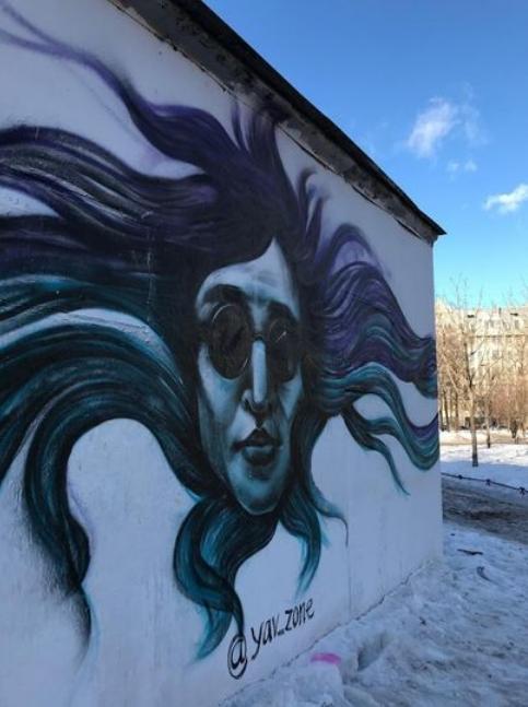 Граффити с Егором Летовым. Фото yav_zone, vk.com