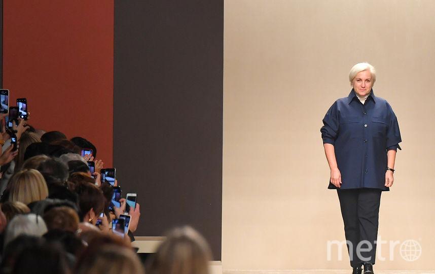 Модельер Сильвия Вентурини еле сдерживала слезы. Фото Getty