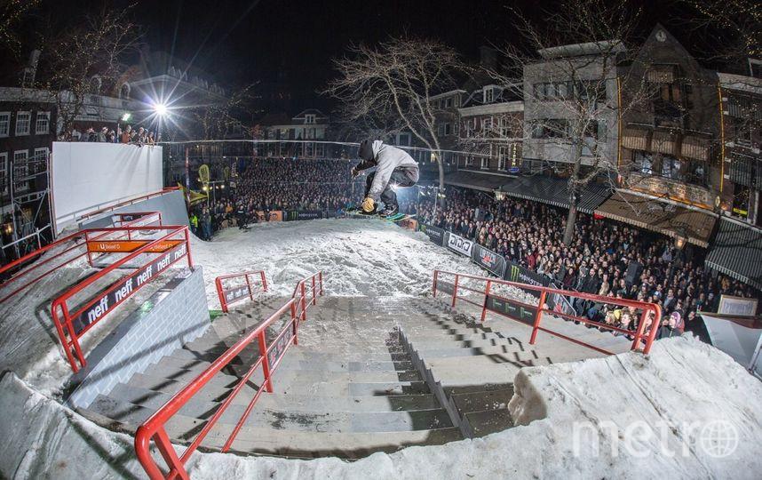 соревнования по экстремальному сноубордингу. Фото Предоставлено организаторами