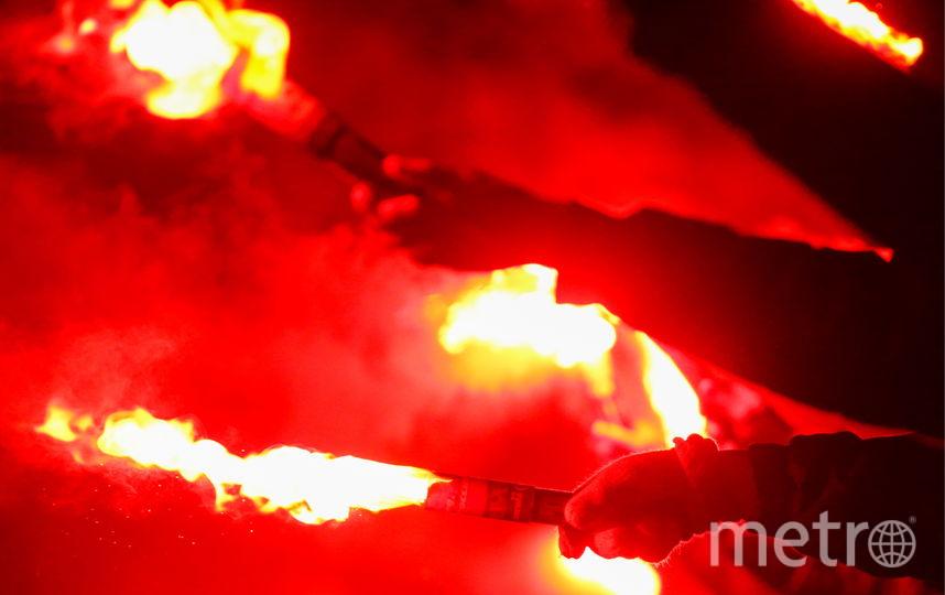 """Огненный перформанс перед игрой """"Зенит"""" – """"Фенербахче"""". Фото Getty"""