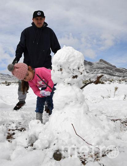 Лас-Вегас, Невада. Местами снега выпало до 20 см. Фото Getty