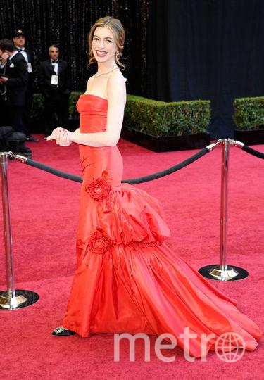 Энн Хэтэуэйв платье от Валентиноза 80 тысяч долларов в 2010 году. Фото Getty