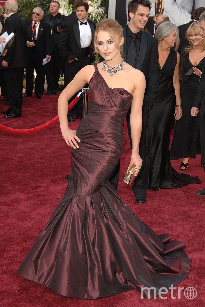Кира Найтли в 2006 году на церемонию надела платье от Веры Вонг стоимостью более 39 тысяч долларов. Фото Getty