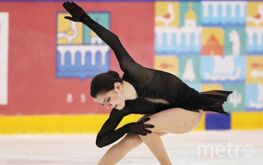 Евгения Медведева в финале Кубка России. Фото Getty
