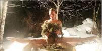 Обнажённая Анастасия Волочкова встала на шпагат над ледяной купелью