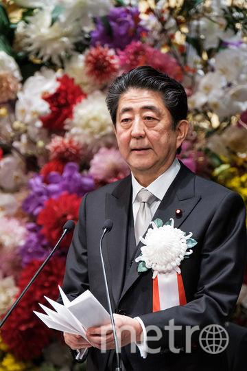 Премьер-министр Японии Синдзо Абэ выступил с приветственной речью на церемонии. Фото AFP