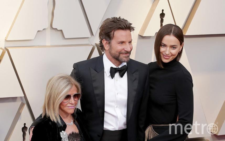 Ирина Шейк, Брэдли Купер и его мама Глория. Фото Getty